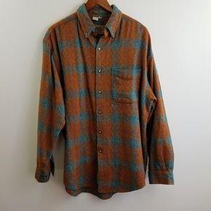 The Territory Ahead Plaid Button Down Shirt Size L
